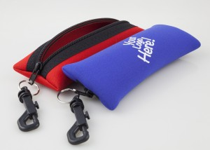 Neoprene sunglass case.
